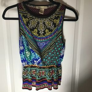 Billy by Flying Tomato Peplum Tank Size Small